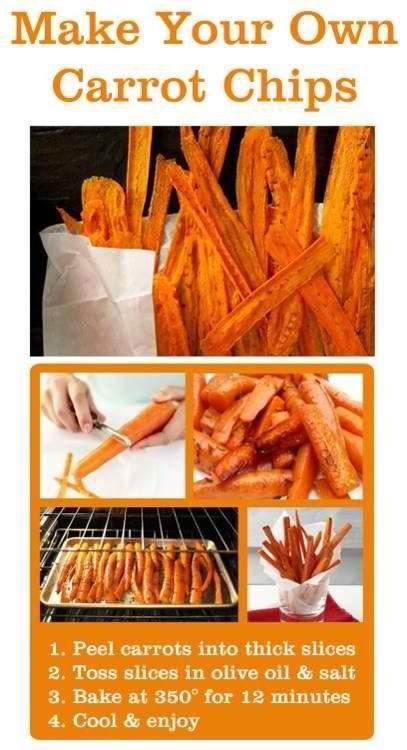 Gezonde wortel patatjes