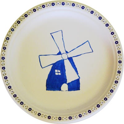 Delfsblauw bord knutselen