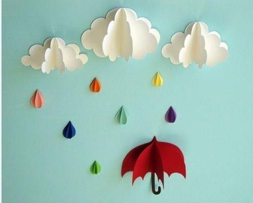 Paraplu, regen, druppels