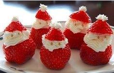 Kerstman van aardbei